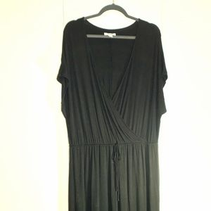 Old Navy Black Jersey Wrap Style Maxi Dress